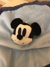 Disney Baby Mickey Mouse Plush Velour Navy Blue Security Blanket Lovey Boy