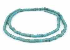 Clear Marine Java Glass Beads 5mm Indonesia Blue Cylinder 24 Inch Strand
