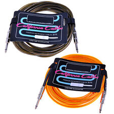2*6M Cables Cord Lead Guitar Amplifier AMP-Brown&Orange for Fender Replacement