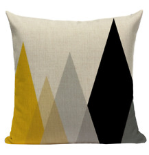 Yellow Triangle Pattern YG3 Cushion Pillow Cover European Design Stylish Modern