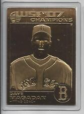 Dave Madagan 2007 Danbury Mint 22Kt Gold Boston Red Sox's World Series Card