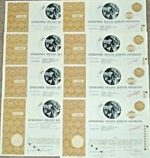 LOT OF 8- 1962-68 STOCK CERTIFICATES, IBM - INTERNATIONAL BUSINESS MACHINES CORP