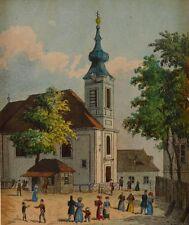 Vasquez, Carl Graf, Kapelle am Thury Brückl um 1820, Wien, Wiener Vedute