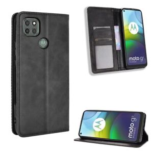 PU Leather Book Wallet Case Cover For Motorola Moto G9 Power