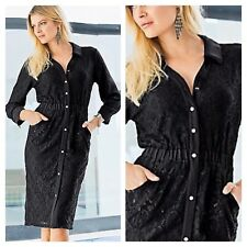 Together @ Kaleidoscope Sz 12 Black Lace Shirt DRESS Evening Party Occasion £79