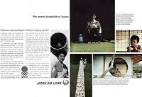 Japan Airlines Stewardess Hostess Tamae TOKYO OLYMPICS Kimono JAL 1964 Print Ad