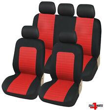 Pour Audi A3 A4 A6 Rouge Noir Tissu Doux avant & Arrière Housses de Voiture Jeu