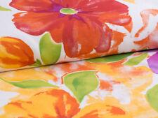 0,5m m, tela Rosas Multicolor Flores Acuarela Algodón Satén Venta Por Metros