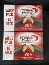 2/10Pk Premier Protein Bar Chocolate Caramel 20g Protein/1g Sugar Gluten Free