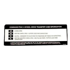 JEEP WRANGLER TJ 97-98 CHEROKEE 94-98 DECAL TRANSFER CASE SUN VISOR COMM TRAC