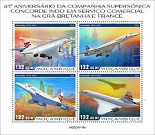 More details for mozambique 2021 mnh aviation stamps concorde aircraft commercial service 4v m/s