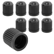 8X BLACK Plastic Tire Valves Air Dust Cover Stem Caps for Wheel Car SUV Bike