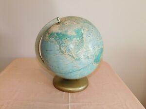 "VINTAGE 15"" HIGH RAND McNALLY  12 INCH DIAMETER WORLD PORTRAIT TABLETOP GLOBE"