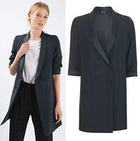 TOPSHOP Soft Tailored Blazer Jacket Dress in Navy Blue