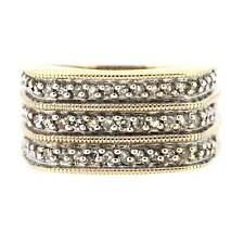 Gents Hallmarked 9ct Yellow Gold/White Gold Diamond Signet Ring