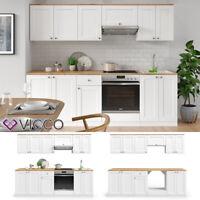 Einbauküche COLETTE III Weiß Küchenzeile L-Form 285x165cm Küche ohne E-Geräte