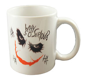 WHY SO SERIOUS Quote Joker Batman Coffee Tea Mugs Mug Cup Gift Present