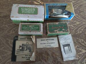 Lot of Vintage Singer Lockstitch Attachments.  Buttonhole and Hemstitcher....