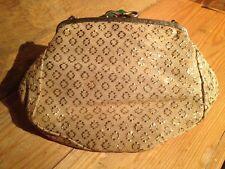 Vintage Gold Foil Ladies Clutch Handbag/Evening/1960's/70's Retro Kitsch/Mad Men