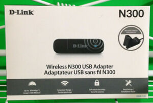 D-Link N-300 Wireless USB Adapter For PC & Laptops Computers Extended Range