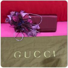 Gucci Angelica Purple Flower Clutch Vintage Rare