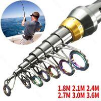Ultralight Fishing Rod Carbon Fiber Telescopic Spinning Hard Pole Durable Rod