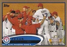 TEXAS RANGERS 2011 ALCS GAME 6 2012 TOPPS GOLD #217 1713/2012