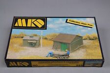Z256 MKD 669 maquette train Ho 1:87 cabane + appentis diorama shed and lean kit