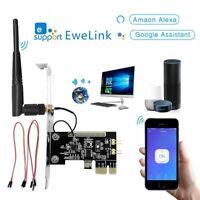 Mini Card PCI-E Desktop PC Remote Control Adapter Alexa Google Switch Turn OnOff