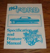 1962 Ford Galaxie Specification Feature Fact Manual Brochure 62