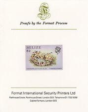 Belize 5116 - 1984 MARINE LIFE $2  imperf on Format International PROOF  CARD