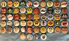 """R & H Style Rubsam & Horrmann Brewing Beer (54) 1-1/2"""" Rp Pins Staten Island Ny"""