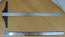 "LUMTS Stainless Steel T Square 20"" Professional Ruler & Precision Non Skid 24"""