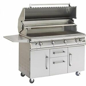 "51"" Pgs Legacy Big Sur Natural Gas Grill  W/ Rotisserie On Cart  S48RNG+S48CART"