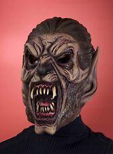 Latex Werewolf Mask Mens Adult Vinyl Halloween Face Were Wolf Costume Brown NEW