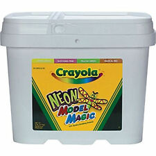 Crayola Neon Model Magic 2 lb Bucket air dries for sculpting activities