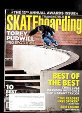Transworld Skateboarding Magazine September 2010 Torey Pudwill, Chris Cole