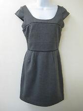 BCBG Max Azria Heather Gray Stretch Knit Dress ONW6G304 Size 2