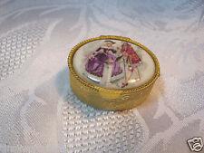 Vintage Oval Vanity Purse Pill Box