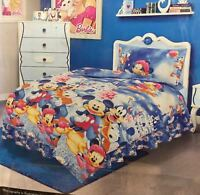 SINGLE SIZE DISNEY LOOK UNISEX KIDS DUVET SET WITH BED SHEET, MICKY/MINNIE MOUSE