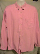 Rare Vintage J. Crew Pink Long Sleeve Oarsman Shirt Size 17 - 36