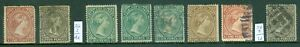 SG 1-6 Falklands 1878-82 Mint & used, condition very mixed. High CAT value