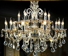 Island 15 bulb modern crystal chandelier wall fixture Ceiling Light Pendant lamp