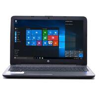"HP Silver 15.6"" Intel i5 Dual Core 6GB Ram 1TB HDD DVD±RW Webcam Windows 10 Pc"