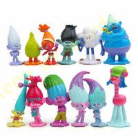 12Stück Trolls Poppy Branch Dreamworks PVC 3-6cm Figur Kinderspielzeug Geschenk
