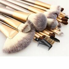 24Pcs Professionelle Kosmetik Pinsel Makeup Brush Echthaar Schminkpinsel Kit【DE】