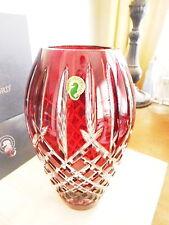 """Waterford Crystal ARAGLIN  PRESTIGE 9"""" Vase RUBY - NEW / BOX!"""