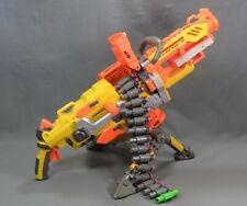 NERF Vulcan EBF-25 Blaster N-Strike Dart Machine Gun w/ Tripod, Ammo, Box, belt.