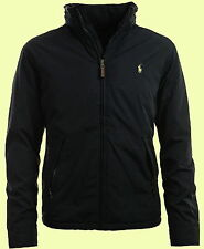 NWT POLO BY RALPH LAUREN mens dark navy fleece zip windbreaker hood jacket  XXL