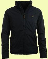 NWT POLO BY RALPH LAUREN mens dark navy fleece zip windbreaker hood jacket  XXL